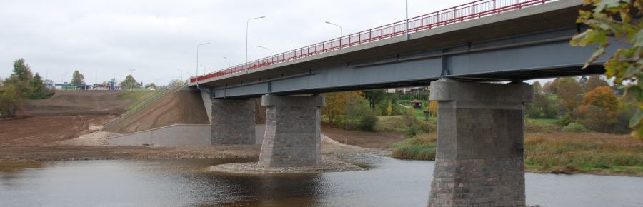 Bridge over river Mūsa in Bauska