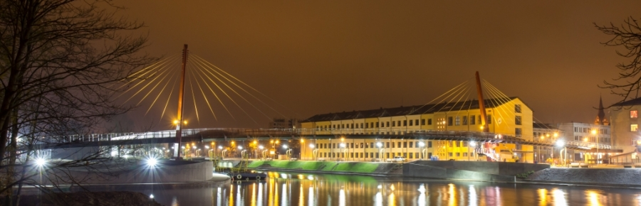 Bridge over river Driksa in Jelgava
